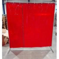 Сварочная штора красная