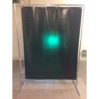 Сварочная штора зеленая